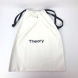 Theory White Canvas Drawstring Bag / Dust Cover